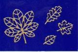 Sticker - Herbstlaub 3 -gold  - 917