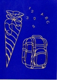 Sticker - Schultüten und Taschen - gold - 103