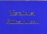 Transparent-Sticker-Herzlichen Glückwunsch - gold - 432