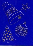 Transparent-Sticker-Weihnachtsdeko -gold-950