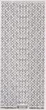 Transparent-Glitter-Sticker-Rand Spielkartenmotive - silber - 1207