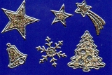 Glitter-Sticker -Weihnachtsmotive -gold-silber-7070