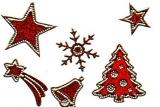 Glitter-Sticker -Weihnachtsmotive -rot-gold-7070