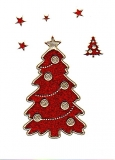 Glitter-Sticker -Weihnachtsbaum -rot-gold-7071