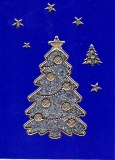 Glitter-Sticker -Weihnachtsbaum -silber-gold-7071
