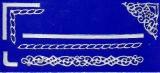 Sticker - Rand & Ecken 6 - silber - 806