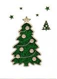 Glitter-Sticker -Weihnachtsbaum -grün-gold-7071