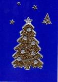 Glitter-Sticker -Weihnachtsbaum -gold-silber-7071