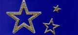 Glitter-Sticker -Sterne -gold-silber-7074