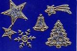 Glitter-Sticker -Weihnachtsmotive -silber-gold-7070