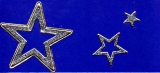 Glitter-Sticker -Sterne -silber-gold-7074