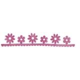 Dekoband - Blumenborte -pink von Rayher (55599264)