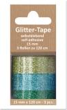 Glittertape - dunkelgrün - hellgrün - türkis  von Reddy (002361)