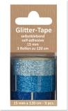 Glittertape - hellblau - dunkelblau - azur  von Reddy (002363)
