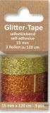 Glittertape - gold - kupfer - rot  von Reddy (002360)