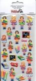 Softy-Sticker-Schule Mädchen von HobbyFun (3451228)