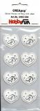 CreaPop-Sticker-Herzen mit Ring silber von HobbyFun (3453036)