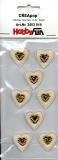 CreaPop-Sticker-Herzen Gold von HobbyFun (3453019)