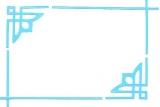 Sticker - Rand & Ecken 1 - hellblau - 842