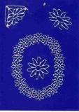 Sticker - Blumen - silber - 1031