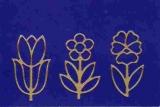Sticker - Blumen - gold - 1133