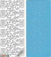 Sticker - Plüschtiere - hellblau - 115