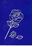 Sticker - Rosen - silber - 114