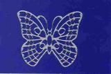 Sticker - Schmetterlinge - silber - 1013