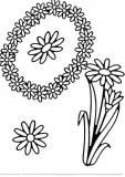 Sticker - Blumen - schwarz - 1031