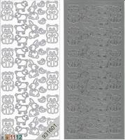 Sticker - Plüschtiere - silber - 115