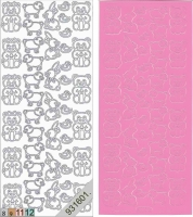Sticker - Plüschtiere - rosa - 115