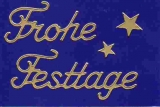 Sticker - Frohe Festtage - gold - 464