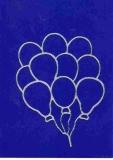 Sticker - Luftballons - silber - 1112