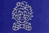 Sticker - Clown - silber - 901