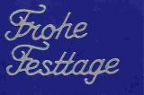Sticker - Frohe Festtage - silber - 464