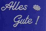 Sticker - Alles Gute - silber - 4404
