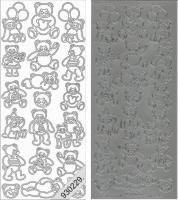 Sticker - Bären - silber - 805
