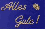 Sticker - Alles Gute - gold - 4404