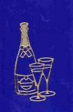 Sticker - Sekt - gold - 1068