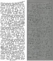 Sticker - Babysachen - silber - 128