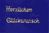 Sticker - Holografisch - Herzlichen Glückwunsch - gold - 432