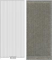 Glitter-Sticker - Rand - silber - 1149