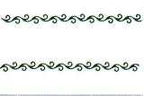 Sticker - Ränder 20 - dunkelgrün - 1023