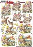 3D-Bogen Hase mit Korb von Nouvelle (8215724)