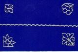 Sticker - Rand und Ecken 3 - silber - 1033