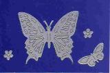 Sticker - Schmetterlinge - silber - 124