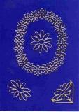Sticker - Blumen - gold - 1031