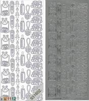 Sticker - Baby 2 - silber - 116