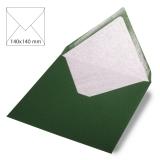 5x Umschläge quadratisch piniengrün