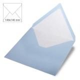 5x Umschläge quadratisch babyblau